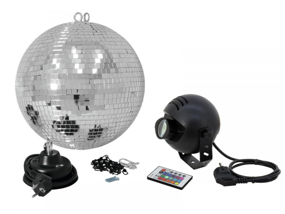 Зеркальный шар EUROLITE Mirror Ball SET LED 6000K