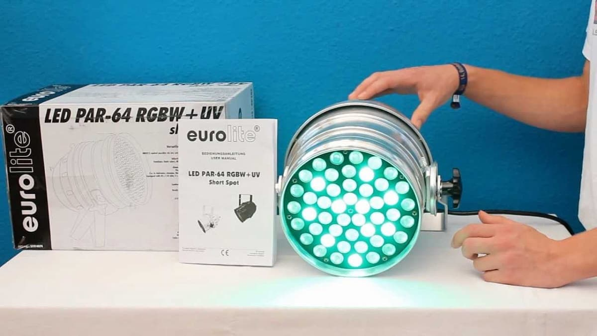 Прожектор EUROLITE LED PAR-64 RGB SHORT, alu, 10mm